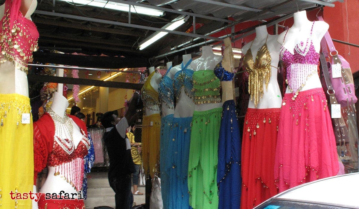 Belly dancer costumes for sale in Kuala Lumpur's Chinatown