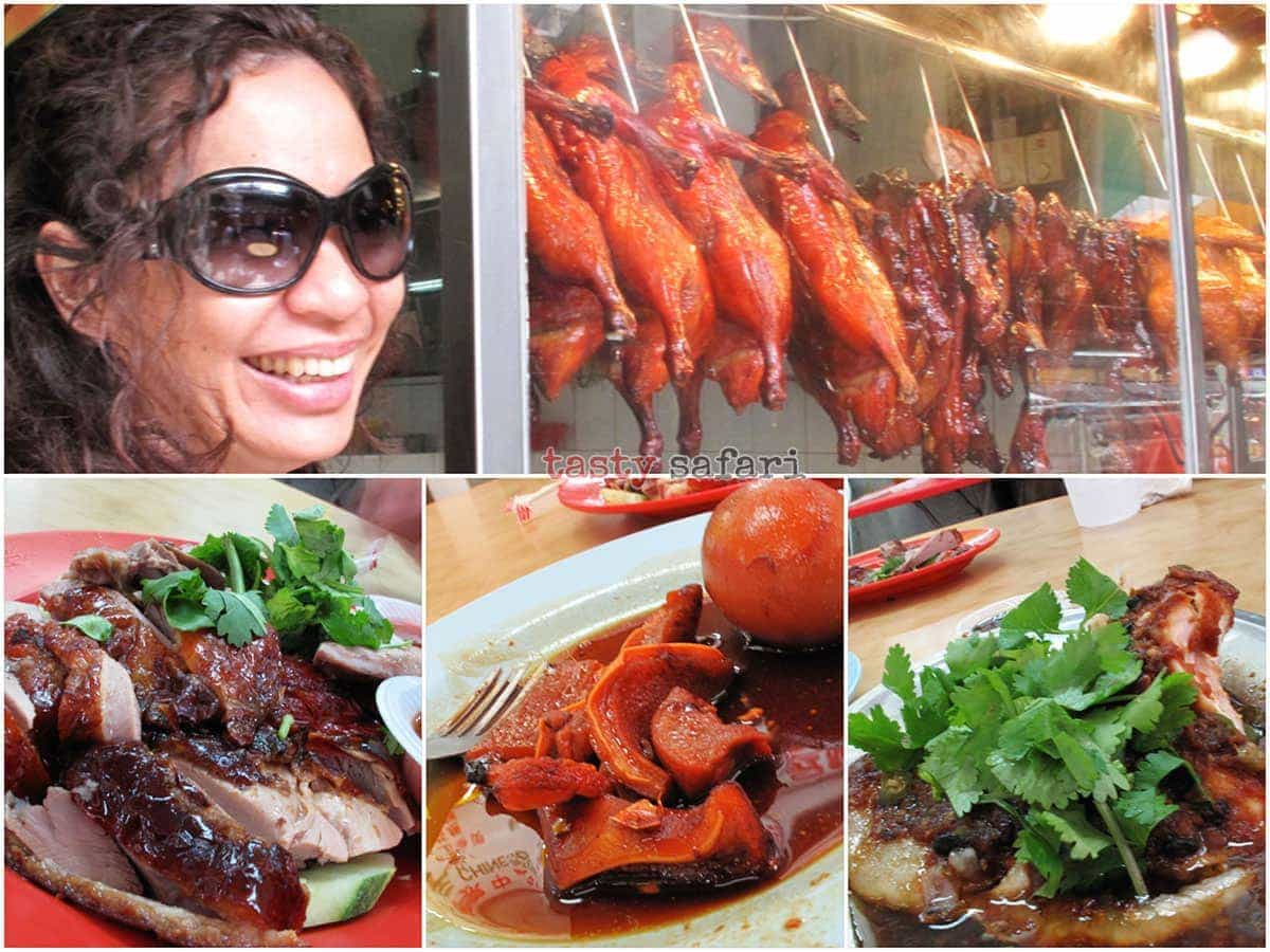 Lunch at Kuala Lumpur's Chinatown: roast duck, pork face and spicy steamed fish