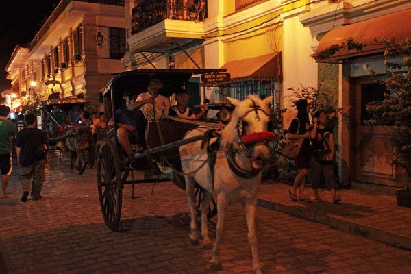 A calesa (horse-drawn carriage) on Calle Crisologo, Vigan