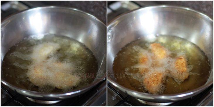 Frying empanadas
