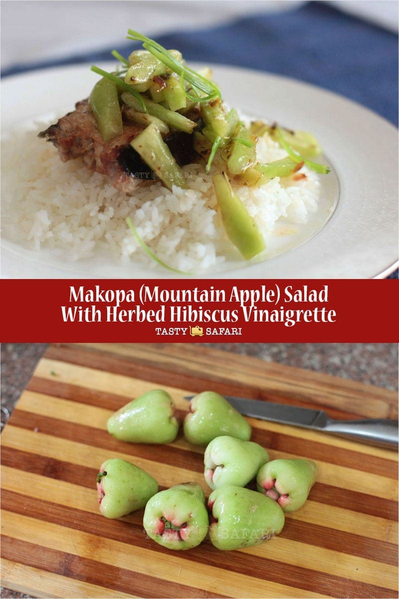Makopa (Mountain Apple) Salad With Herbed Hibiscus Vinaigrette