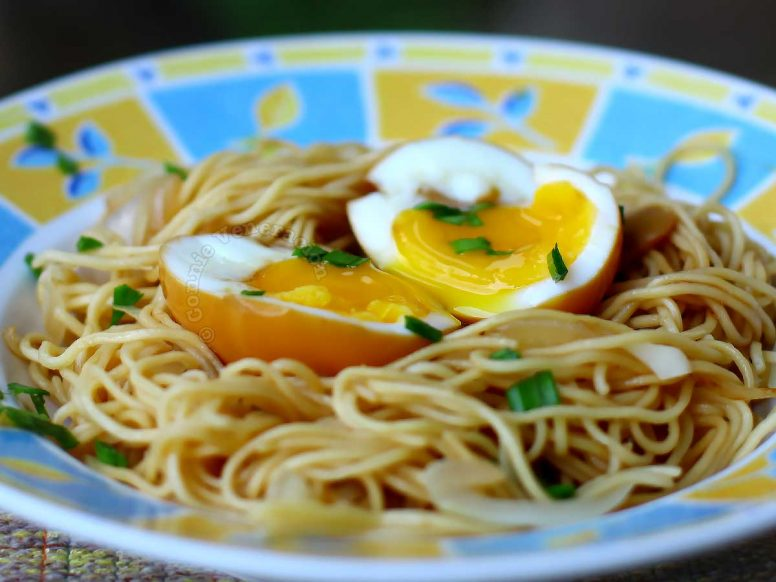 Soy sauce egg with runny yolk