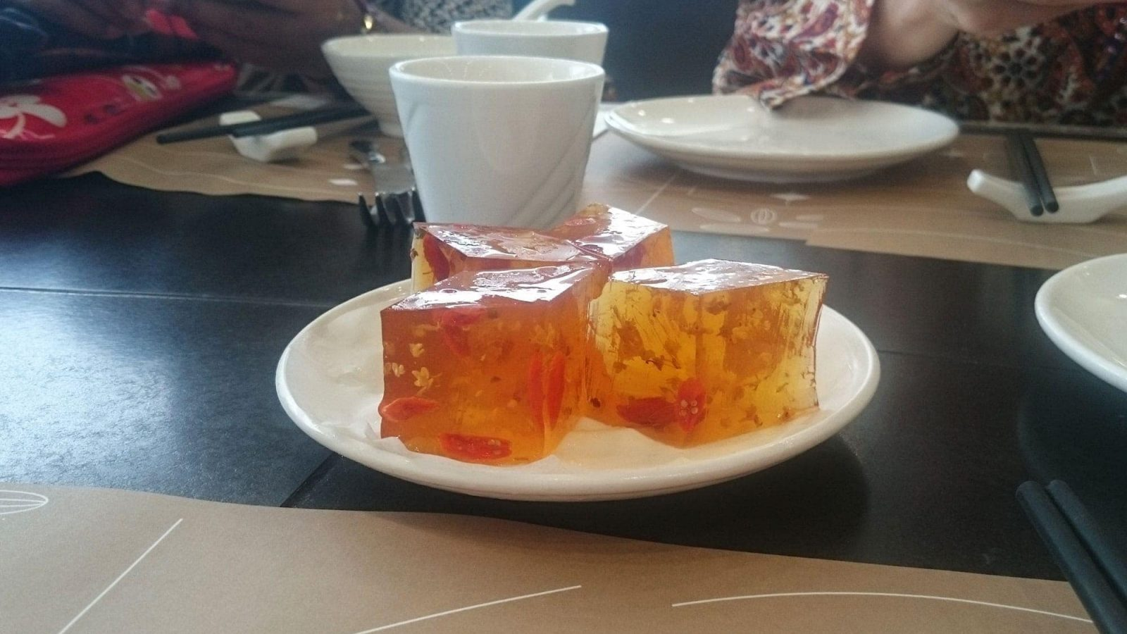 Osmanthus jelly at Pak Loh Chiu Chow, HK International Airport