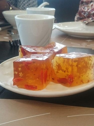 Osmanthus jelly at Pak Loh Chiu Chow, HK International Airport