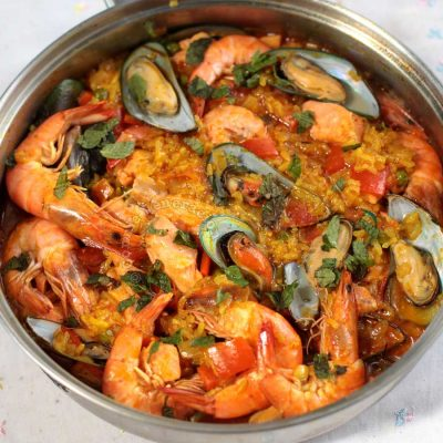 Seafood Arroz a la Valenciana (Filipino-style Paella)