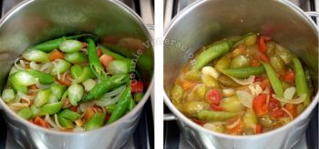 Making the sour base for sinigang