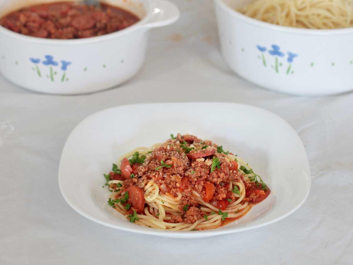 Filipino-style Sweet Spaghetti