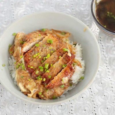 Home cooked katsudon