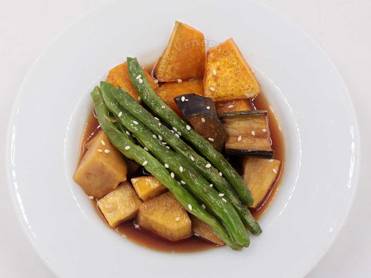 Mixed vegetables agebitashi
