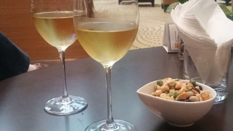 Nuts to go with the free flowing wine, Crowne Plaza Hotel, Kowloon
