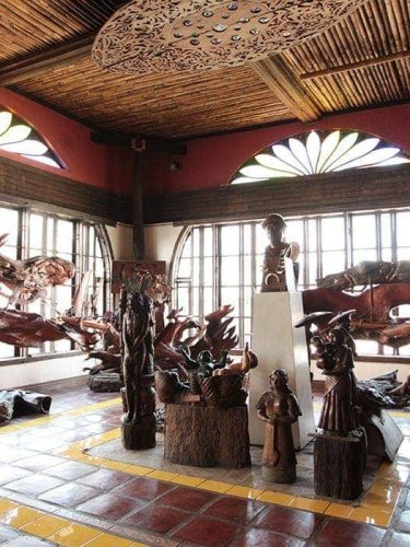 At Balaw-balaw, a museum of wood sculptures