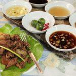 Crispy Walkman (fried pork ears) with 6 dipping sauces at Balaw-balaw Restaurant