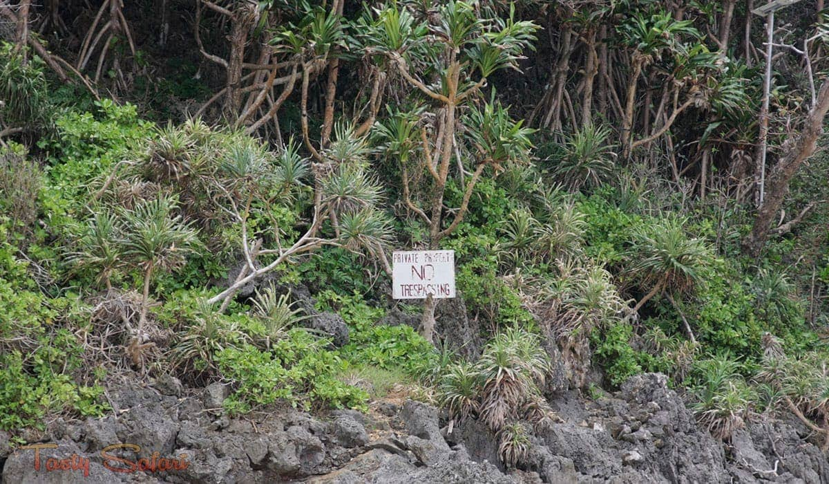 Private property on Puca Beach