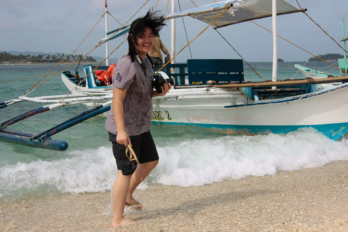 My daughter, Sam. Crystal Cove, Boracay