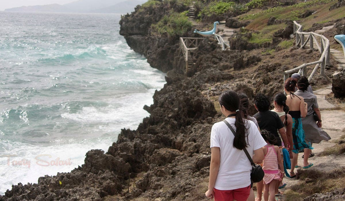 The trek to Crystal Cove caves, Boracay