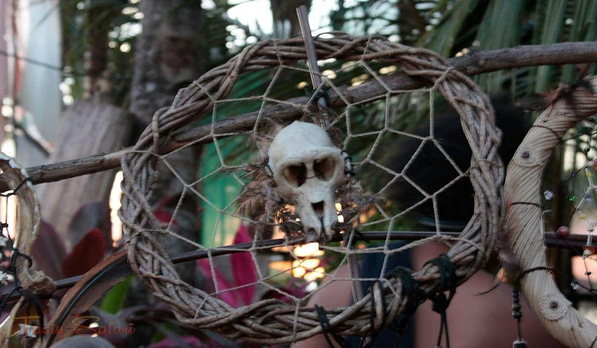Dreamcatcher with a monkey's skull in Boracay