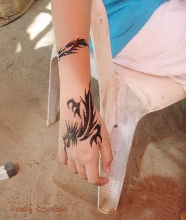 My daughter's dragon tattoo
