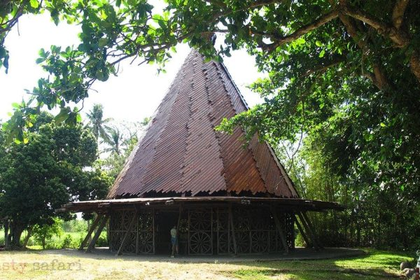 The salakot-shaped roof of the Chapel of the Cartwheels at Hacienda Rosalia