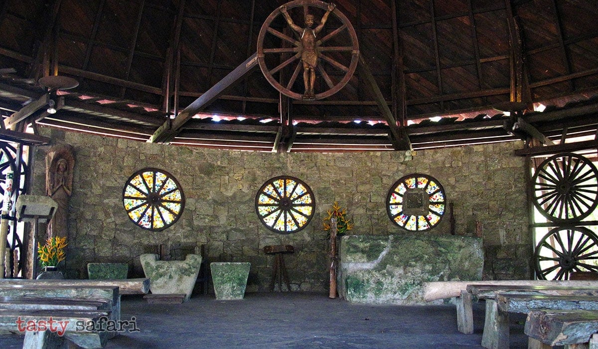 The altar of the Chapel of the Cartwheels at Hacienda Rosalia
