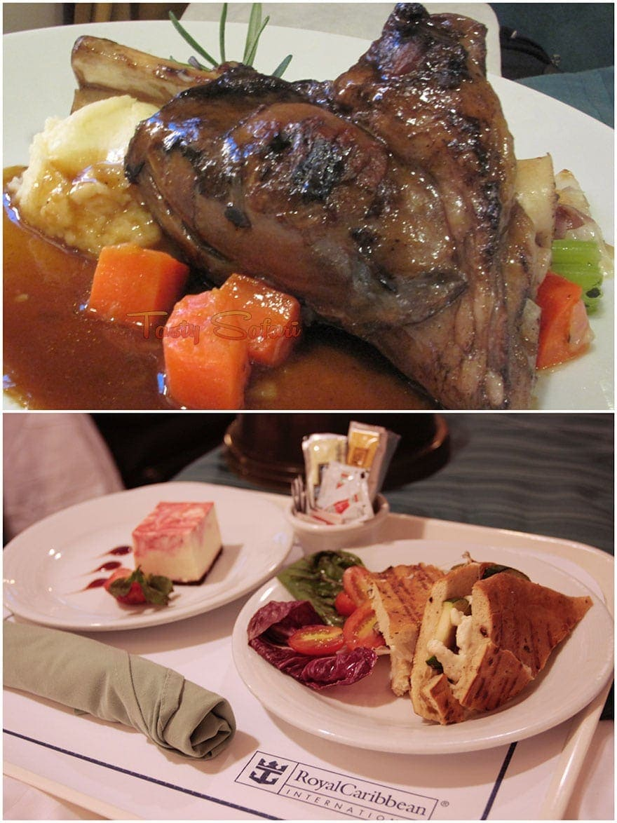Leg of lamb, sandwich and cheesecake: room service aboard the Legend of the Seas