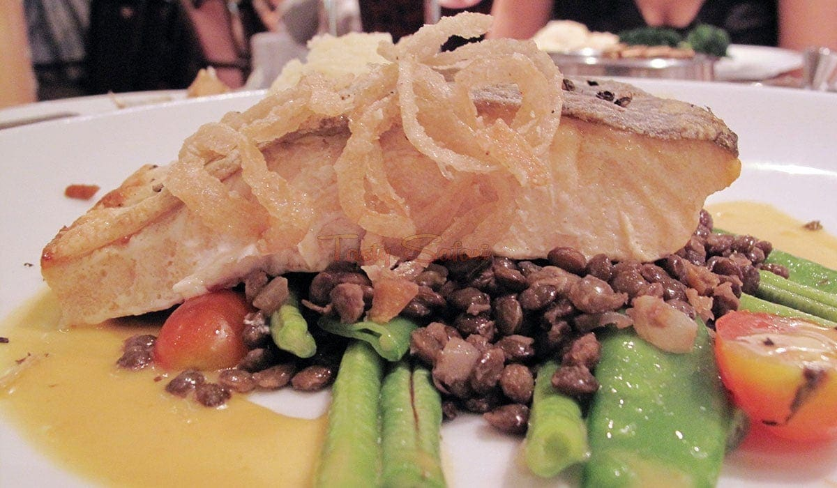 Grilled fish, Legend of the Seas Dining Room