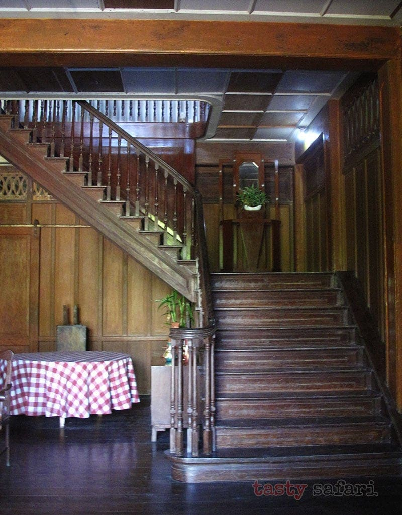 The stairs of the Gaston Mansion in Hacienda Rosalia