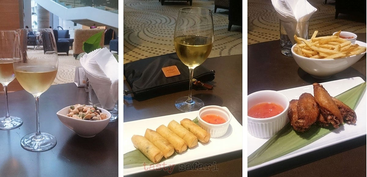 Finger food to go with the free flowing wine, Crowne Plaza Hotel, Kowloon