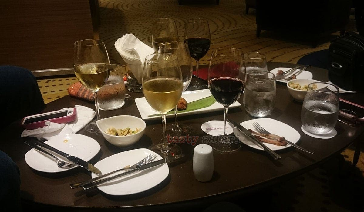 The remains of our happy hour adventure, Crowne Plaza Hotel, Kowloon