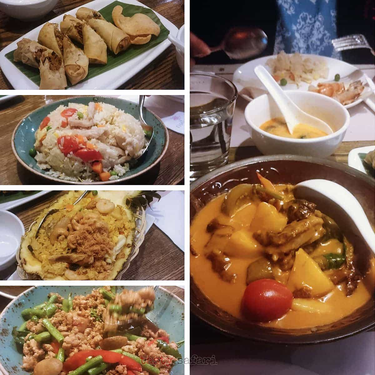 Lunch at Thai Orchids Cafe, MegaBox, Kowloon