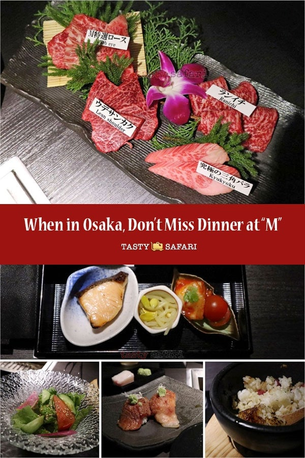 """Spectacular beef dinner at """"M"""" in Osaka, Japan"""