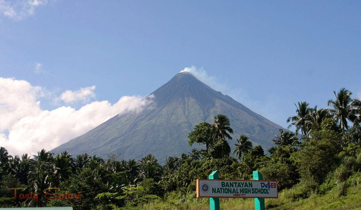 View of Mayon Volcano from Tabaco City