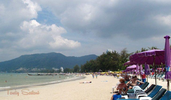 Tourists at Patong beach