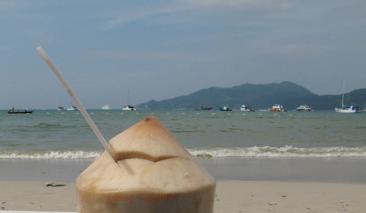 Fresh coconut juice in Phuket