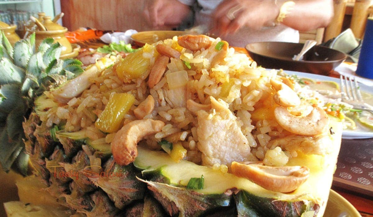 Pineapple fried rice at Lily's, Patong Otop Shopping Paradise, Phuket, Thailand