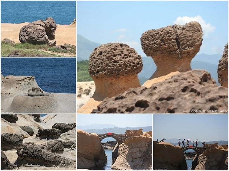 Under the scorching sun at Yehliu Geo Park