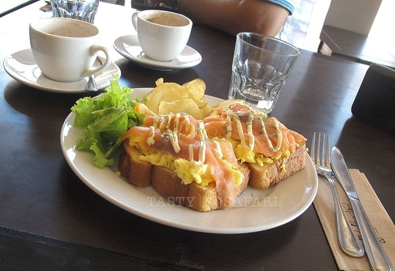 Smoked salmon and egg sandwich, Kuppa Coffee and Tea, Bacolod City