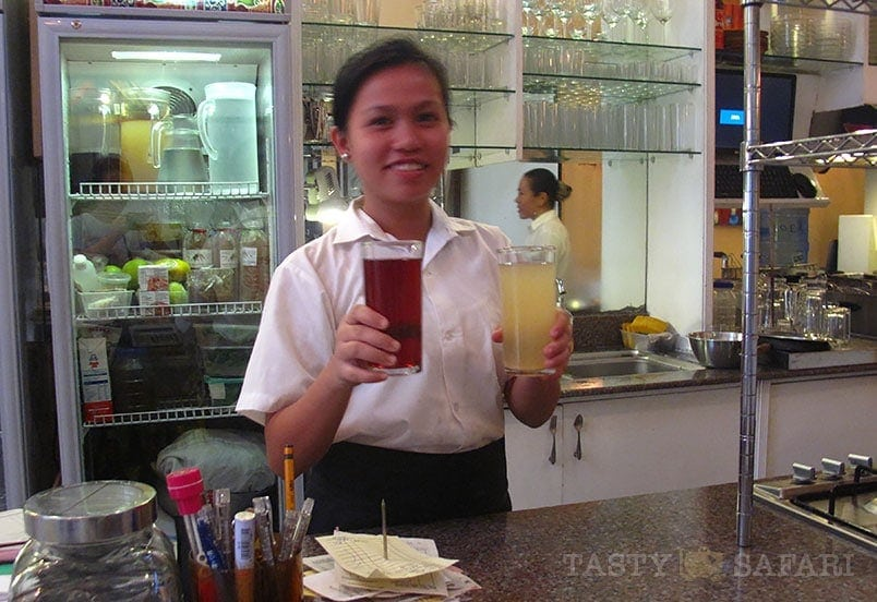 Cold drinks at the Negros Museum Cafe, Bacolod City