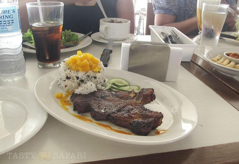 Pork rib and pilaf. Pepe's, Bacolod City