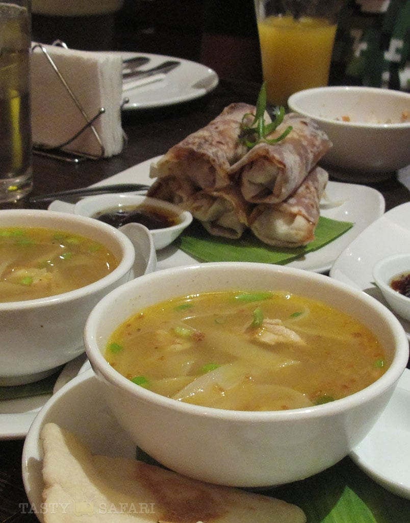 Pancit molo and pritchon at Mushu, Bacolod City