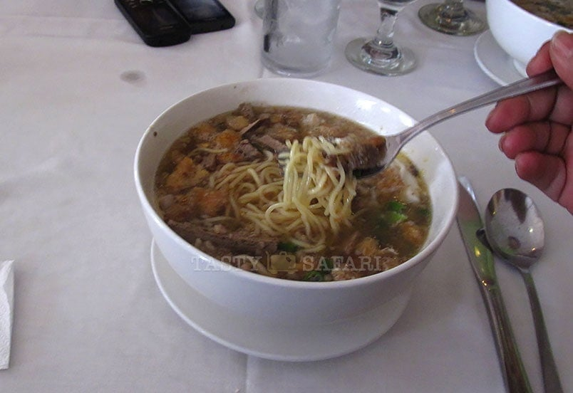 La Paz batchoy at 21 Restaurant, Bacolod City