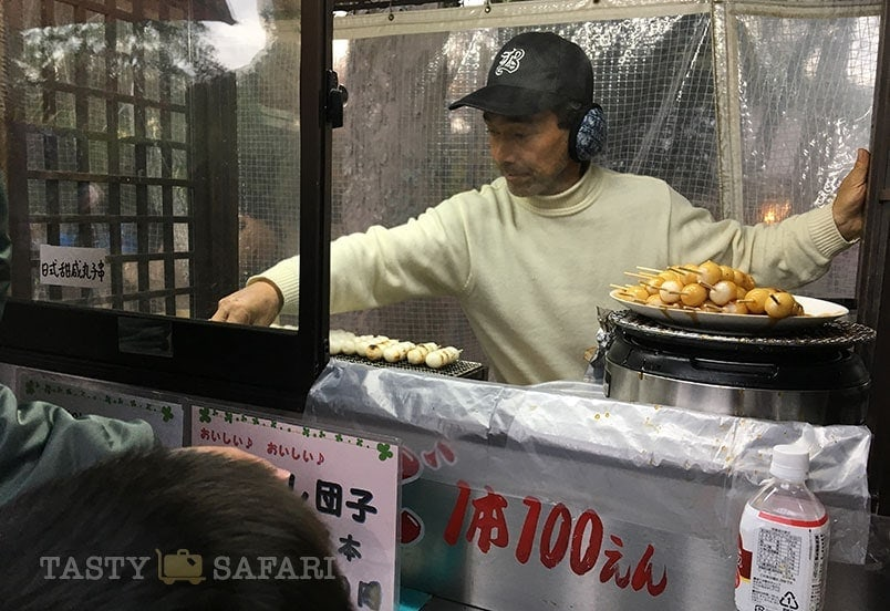 Dango vendor at Nara Park