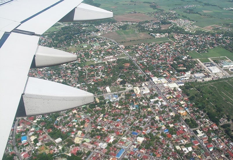 View of Bacolod City from the plane