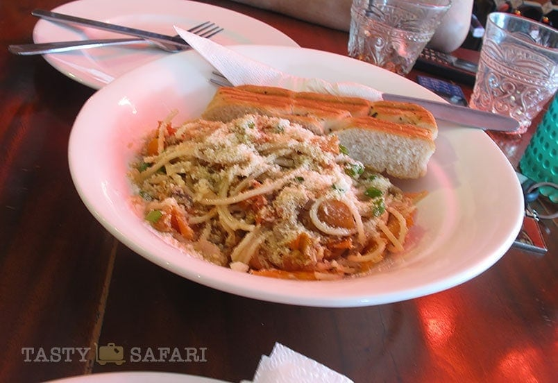 Pinoy-style pasta with tinapa (smoked fish), Cafe Bob's Bcolod City