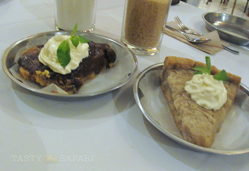 Chico pie and buko pie. Negros Museum Cafe, Bacolod City