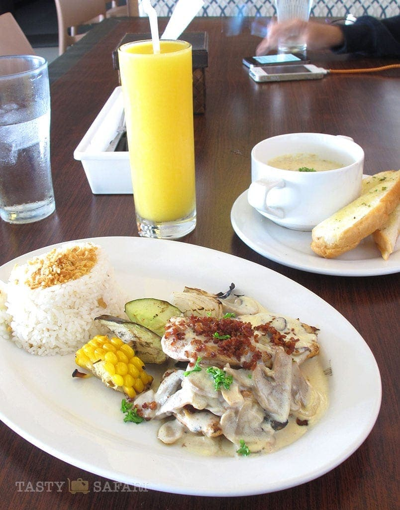 Chicken with mushroom sauce. Pepe's, Bacolod City