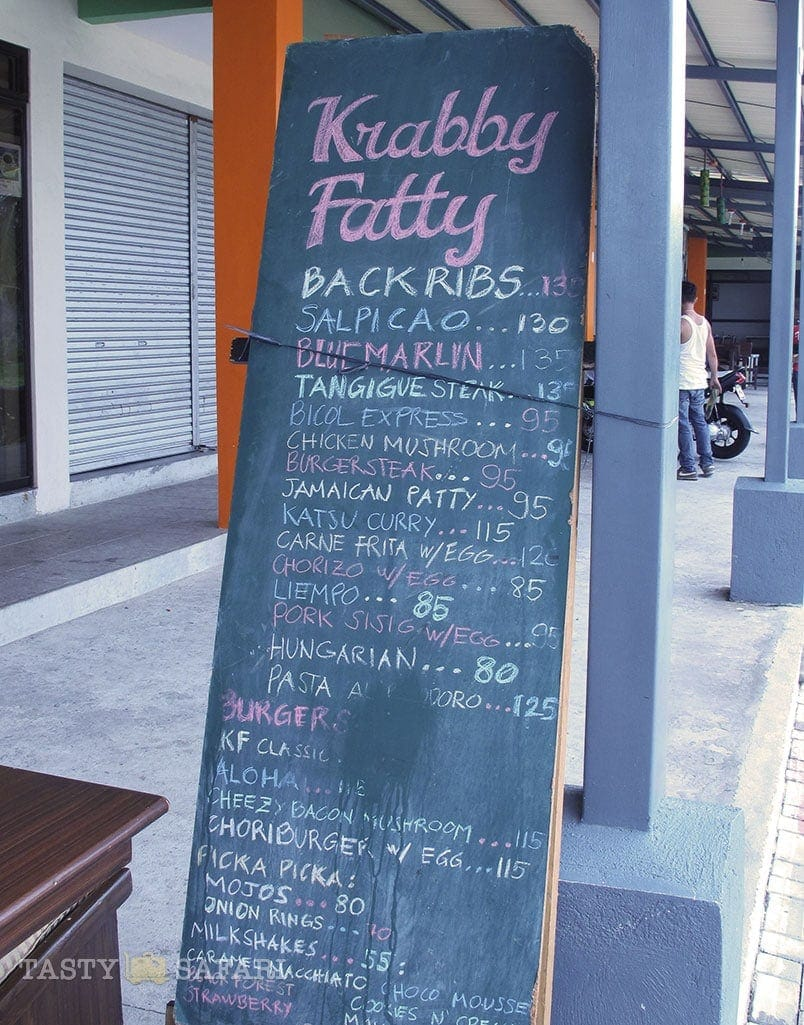 Menu, Krabby Fatty, Bacolod City