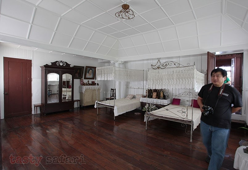 A bedroom at the house of Gregorio Agoncillo in Taal, Batangas