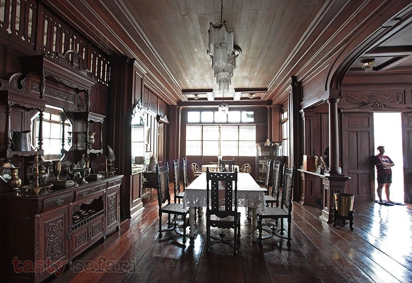 Full view of the dining area: house of Gregorio Agoncillo in Taal, Batangas