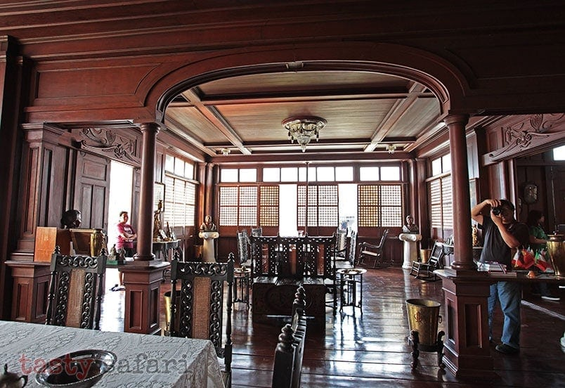 Dining and living areas of the house of Gregorio Agoncillo in Taal, Batangas