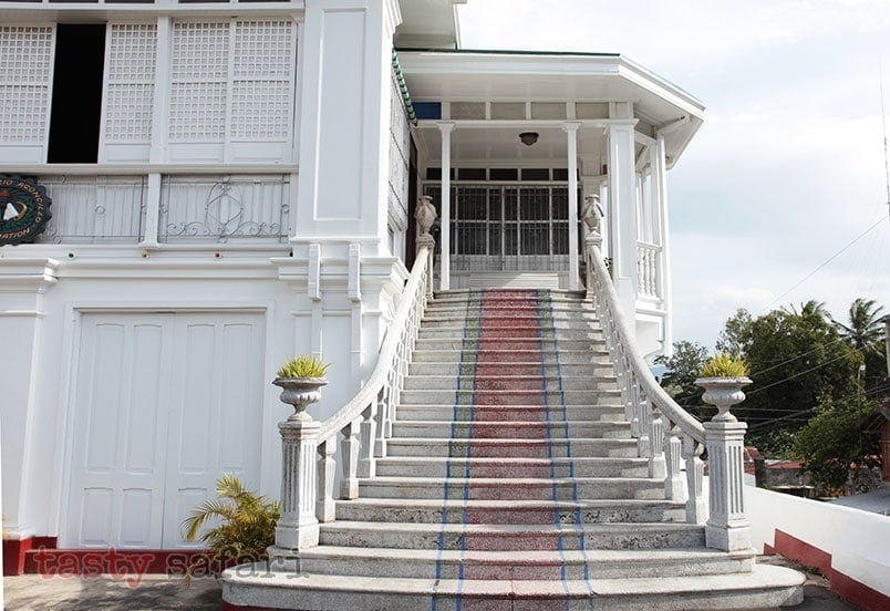 Stairs leading to the second-floor family area of the house of Gregorio Agoncillo in Taal, Batangas